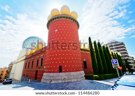 FIGUERES, SPAIN - JULY 15: Dali Museum in Figueres, Spain on July 15, 2012. Museum was opened on September 28, 1974 and houses largest collection of works by Salvador Dali. - stock photo