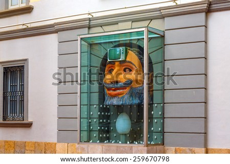 Figueres, Spain - June 17, 2014: Dali Museum in Figueres. Museum was opened on September 28, 1974 and houses largest collection of works by Salvador Dali.