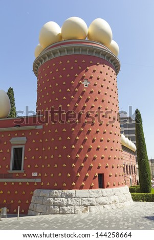 FIGUERES, SPAIN - JUNE 14: Dali Museum in Figueres, Spain on June 14, 2012. Museum was opened on September 28, 1974 and houses largest collection of works by Salvador Dali.