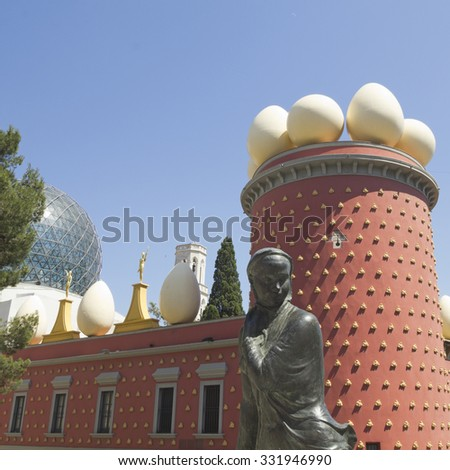 FIGUERES, SPAIN - JUNE 14: Dali Museum in Figueres, Spain on June 14, 2012. Museum was opened on September 28, 1974 and houses largest collection of works by Salvador Dali. - stock photo