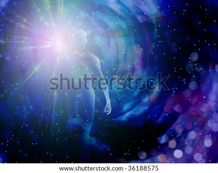Figure in Light - stock photo
