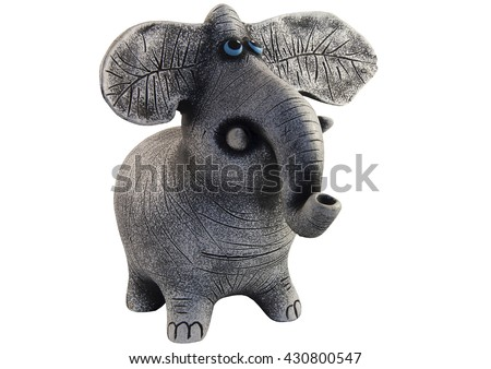 figure of an elephant on a white background