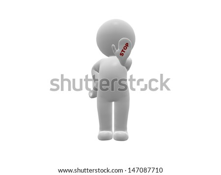 Figure showing Stop  - stock photo