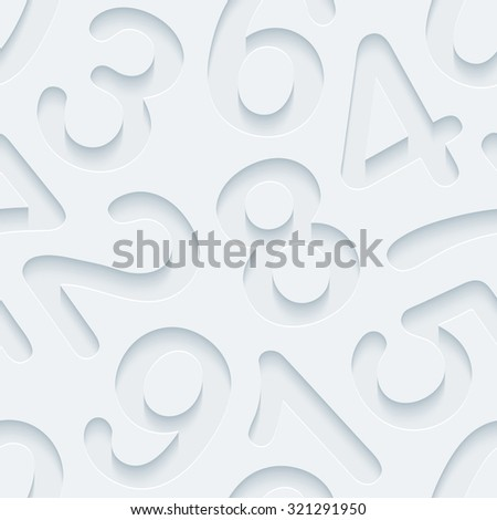 Figures 3d seamless background. Light perforated paper pattern with cut out effect.  - stock photo