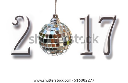 figures 2017 with mirror ball on white background