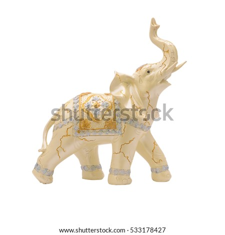 figurine an elephant isolated on white