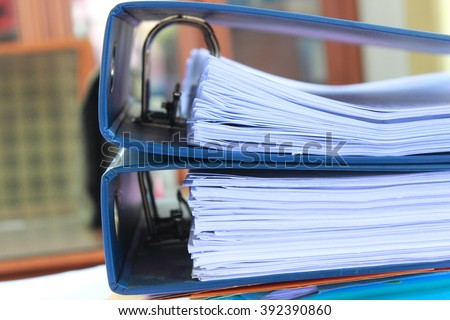 file archive important files - stock photo