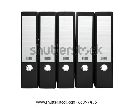 File archive on white background