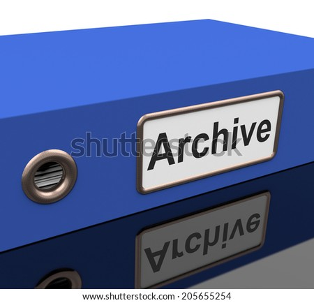 File Archive Representing Collection Archives And Organize - stock photo