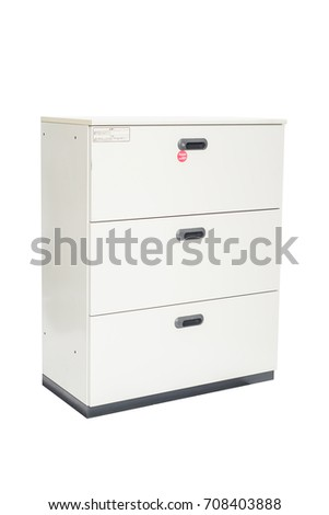 File Cabinetoffice Furniture On White Background