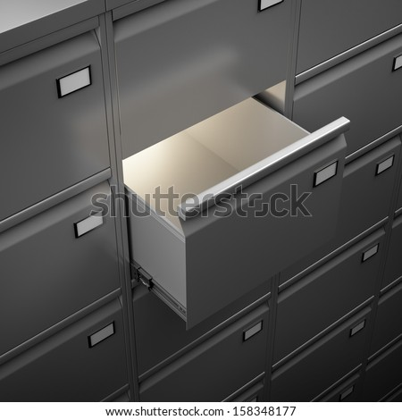 File cabinet with light