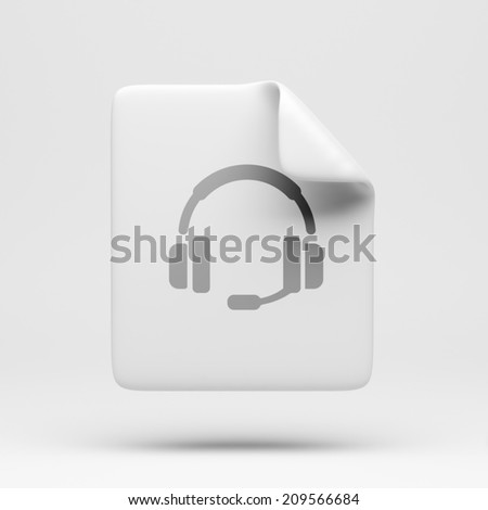 File Contact Icon isolated on white