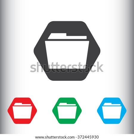 File folder icon for web and mobile. - stock photo