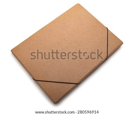 File Folder on white background - stock photo