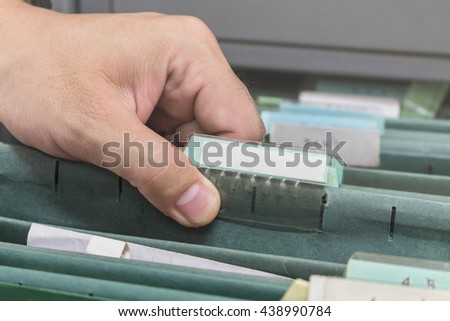 file folder, Search for documents - stock photo
