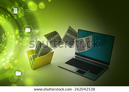 File folder transfer - stock photo