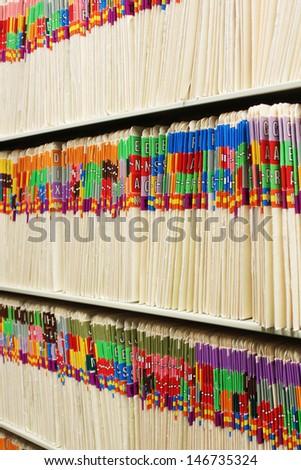 File folders - stock photo