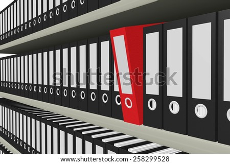 file folders - stock photo