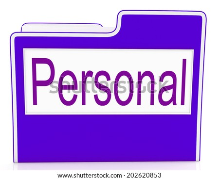 File Personal Representing Personally Correspondence And Organization