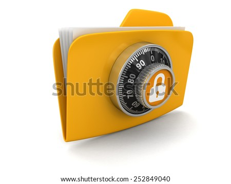 File protection  (clipping path included) - stock photo