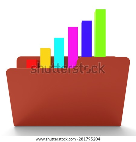 File Report Showing Business Graph And Information - stock photo