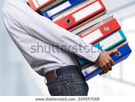 File, Ring Binder, Emotional Stress. - stock photo