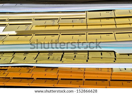 File with documents - stock photo
