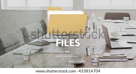 Files Folder Data Document Storage Concept - stock photo