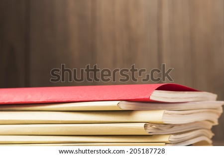 files.on desk. - stock photo