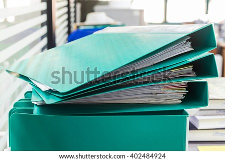 Files Stacked Paper. - stock photo