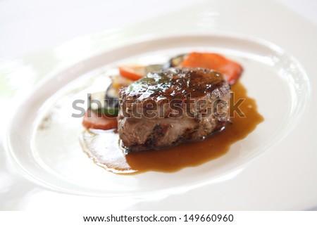 Filet mignon beef steak - stock photo