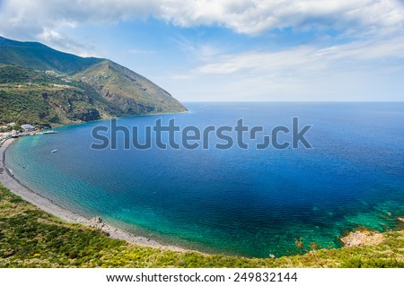 Filicudi clear waters, Aeolian Islands, Sicily, Italy.