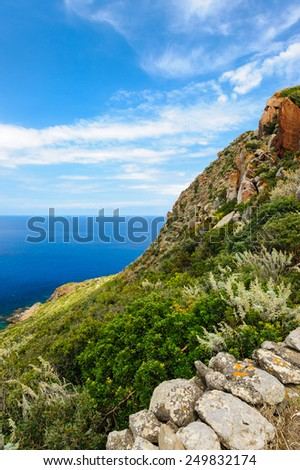 Filicudi landscape, Aeolian Islands, Sicily, Italy. - stock photo