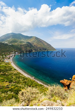 Filicudi landscape, Aeolian Islands, Sicily, Italy. - stock photo