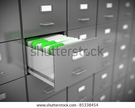 Filing cabinet - stock photo