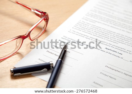 Fill in the application form - stock photo