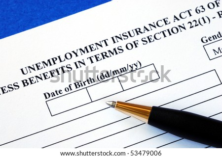 Fill out the application form for the unemployment insurance