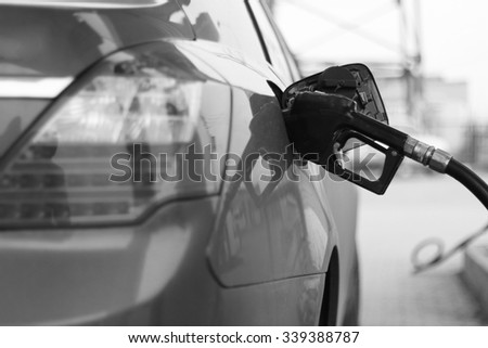 fill up with petrol