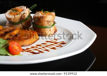 filled Chicken breast - stock photo