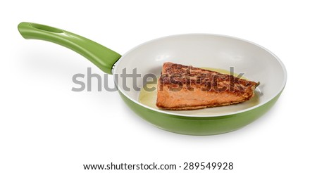 Fillet in frying pan - stock photo