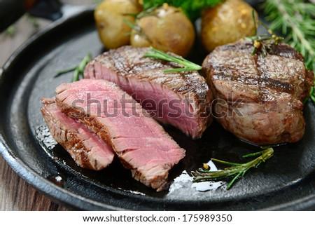 Fillet Beef Potatoes Stock Photo 175989350 - Shutterstock