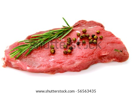fillet of beef on white background - stock photo