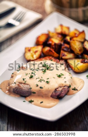 Fillet of beef with potatoes