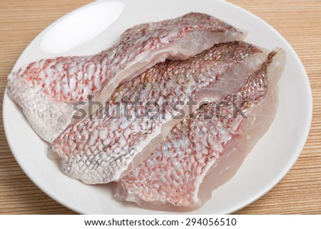 Fillet of red snapper - stock photo