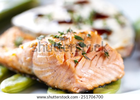 Fillet of Salmon. - stock photo
