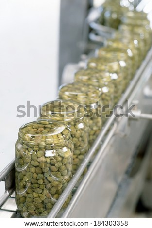 filling bottling - stock photo