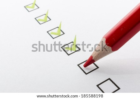 Filling checkboxes  - stock photo