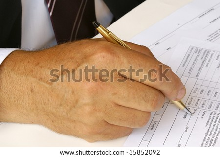 Filling forms - stock photo