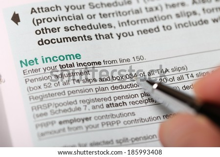 Filling net income - stock photo