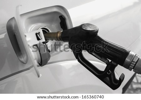 Filling the car - stock photo